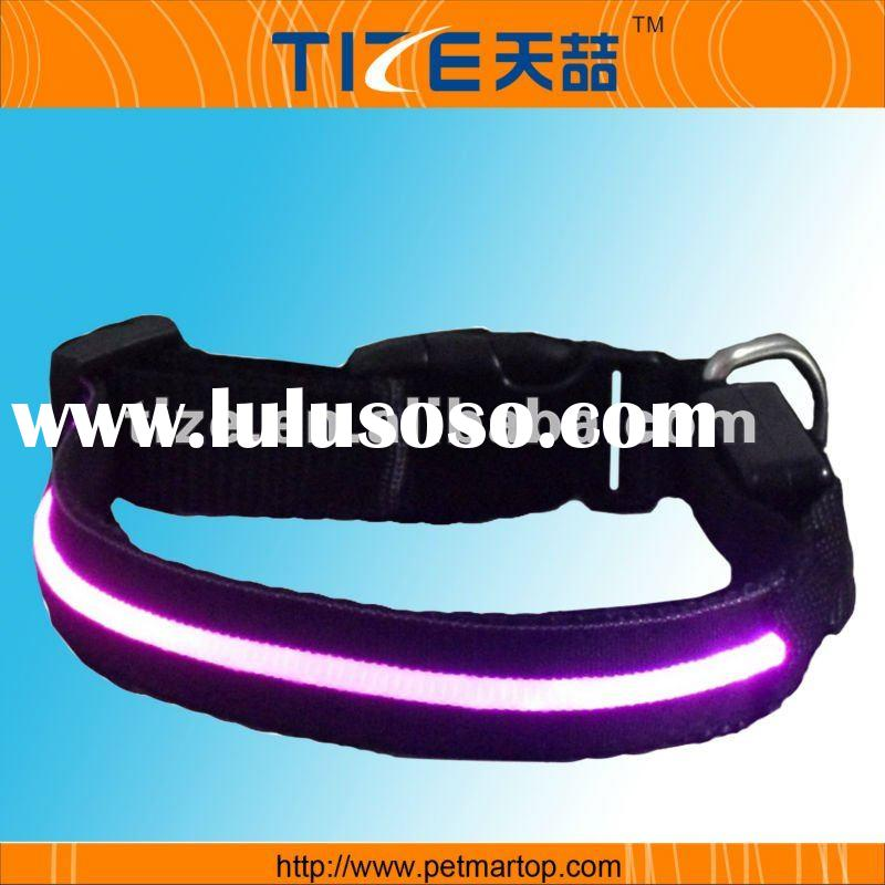Flashing lights dog collar TZ-PET5005P Light up dog collar Waterproof, bright pink light