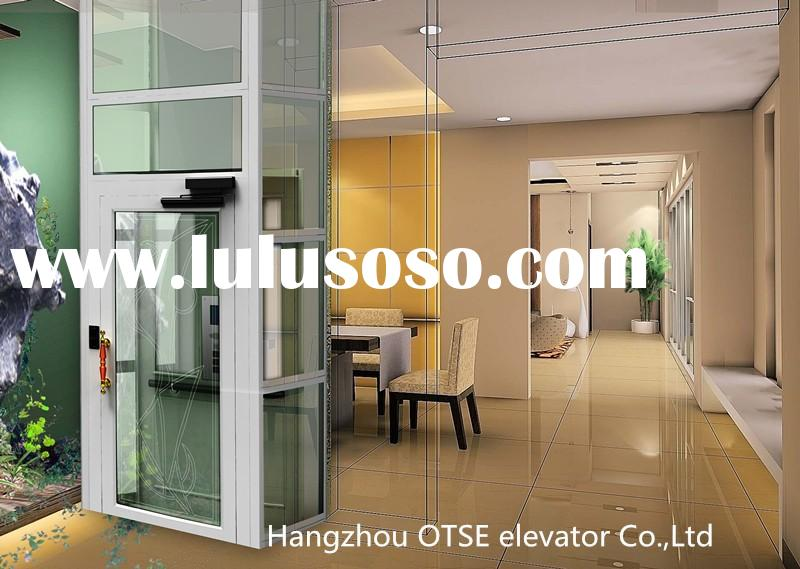 Glass shaft around home used residential elevators for sale