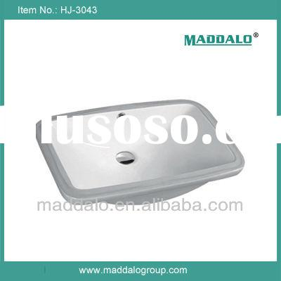 HJ- 3043 Popular Design Under Counter Wash Basin / Rectangular Bathroom Sink