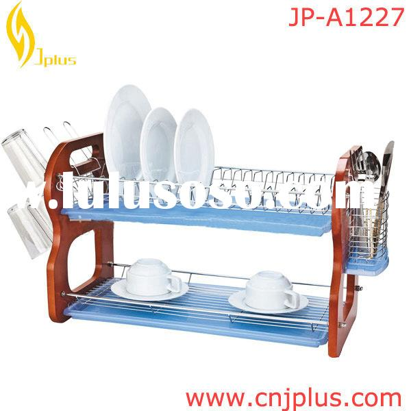 JP-A1227 2 Tier Dish Drainer With Drip Tray