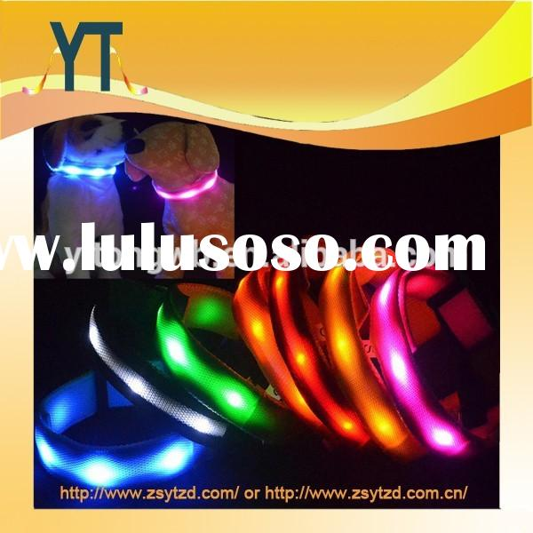LED Nylon Pet Dog Cat Collar Pet Dog Night Safety Collar Flashing Glow Light Up Adjustable