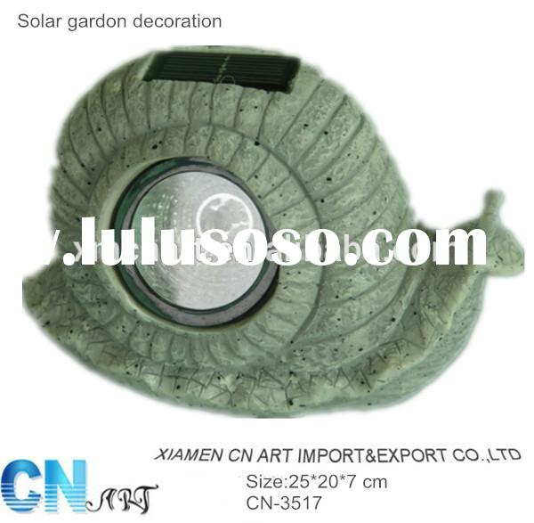 New design resin wholesale solar lights cheap solar lights FOR GARDEN