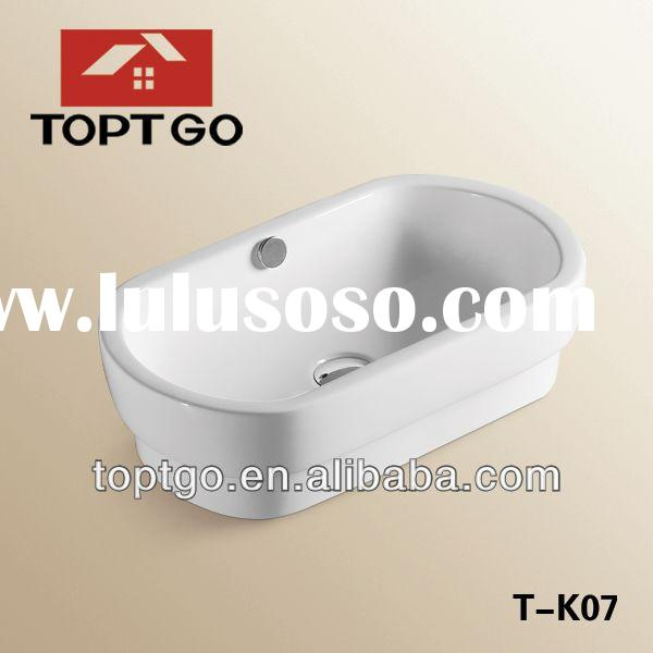 Porcelain Oval Kitchen Ceramic Sink T-K07