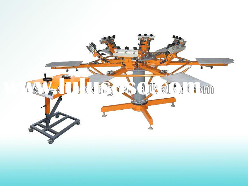 Rotary silk screen printing machine for sale, t shirt screen printers for sale