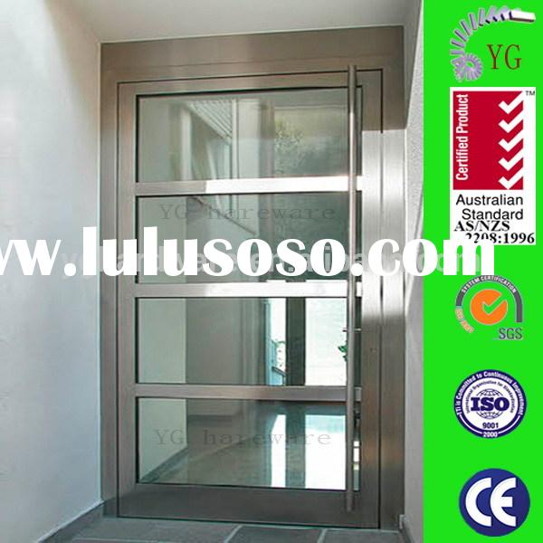 Stainless Steel Frame Glass Fire Doors