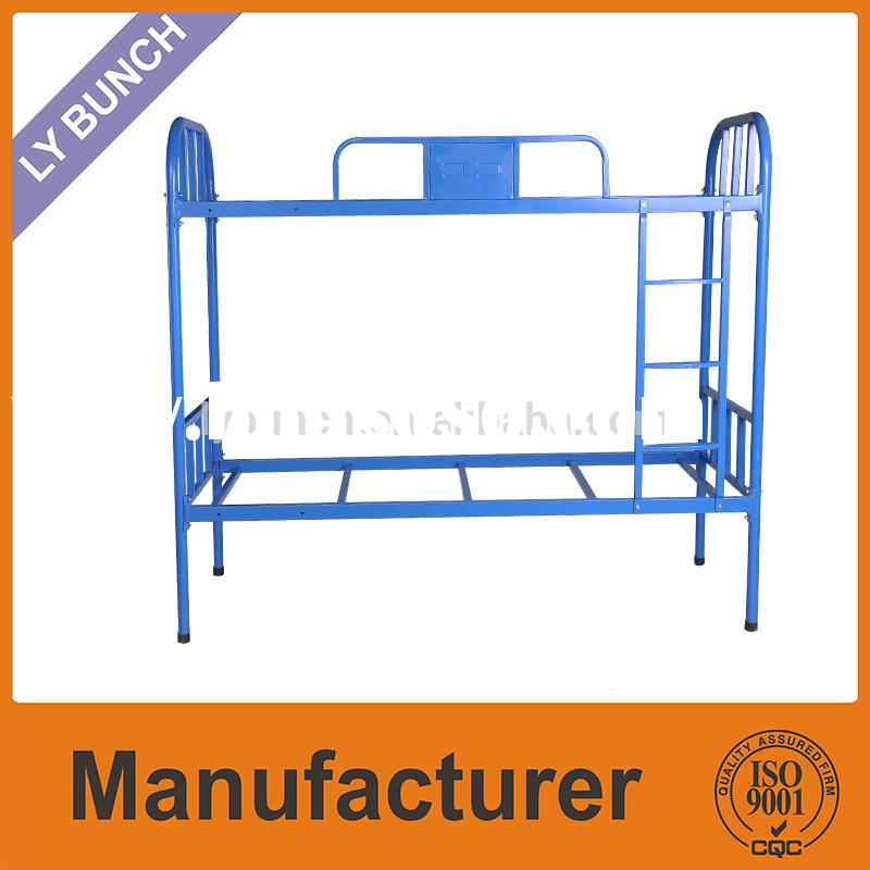Strong double deck bed steel furniture for sale