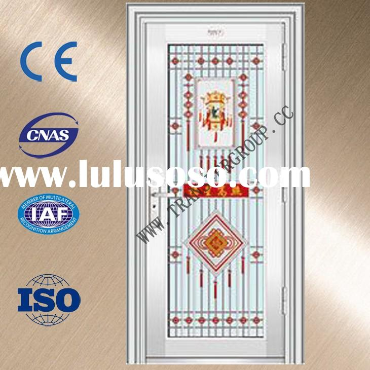 YZ-7016 modeern steel doors/commercial steel entry doors/metal door frames