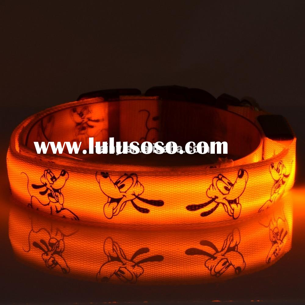 cheap wholesale pet dog led flashing collar leash harness led dog light