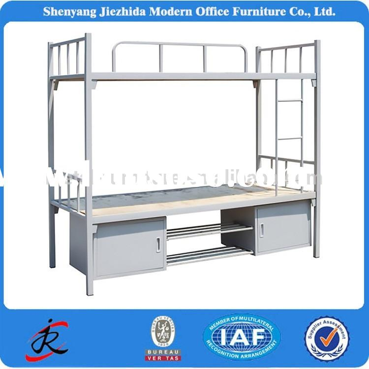 high quality modern double deck army beds adult iron steel metal bunk bed for sale