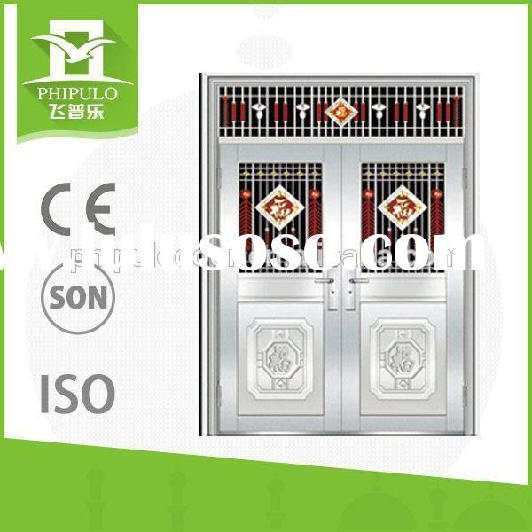 hot commercial double price of stainless steel doors exterior frame bulk buy from china