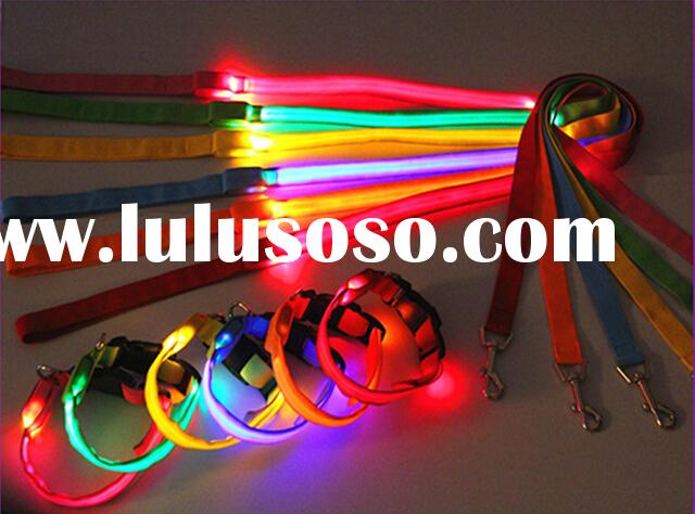 led flashing dog collar light up leash and collar