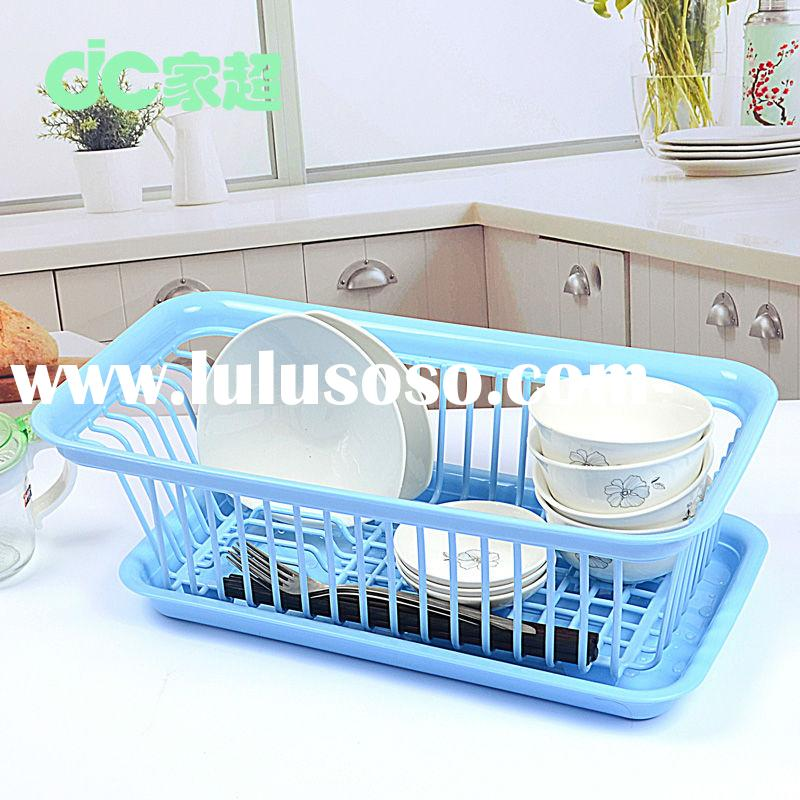 plastic dish drainer rack Plastic Dish Drainer With Drip Tray Cutlery Holder Kitchen Sink Rack Plate