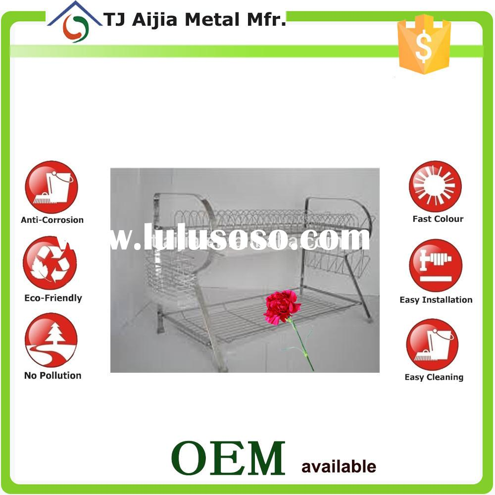 removable Layer Dish Drainer with drip tray