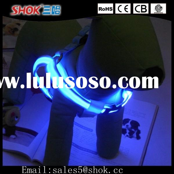 wholesale New Adjustable LED Light Dog Collar/Flashing Light Up LED Dog Collar In the Dark