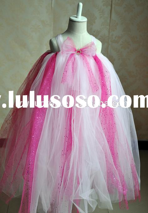 2015 Flower Girl Dress Children's Princess Chiffon Dress Beauty Girl Wedding Birthday Tutu D