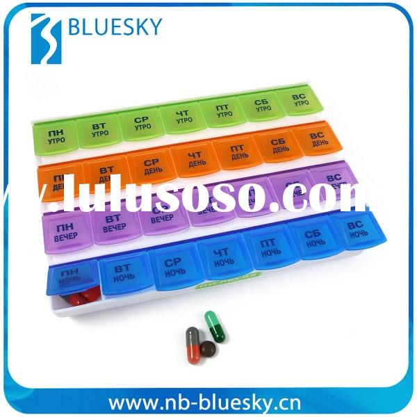 28 case Decorative Promotion 7 Day Pill Box
