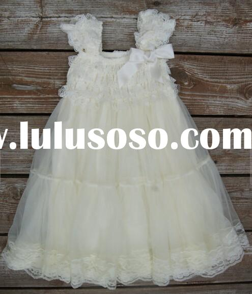 Baby Girl Clothes Flower Girl Dress Ivory Baptism Dress Newborn Girl Christmas Christening Lace Dres