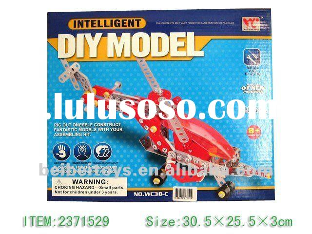 DIY 3D Metal Helicoper Toy, Metal Construction Toy Set