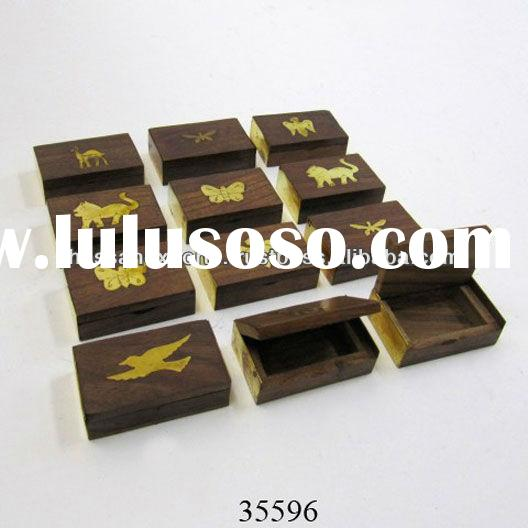 Decorative Rosewood Pill Box, Wooden Box