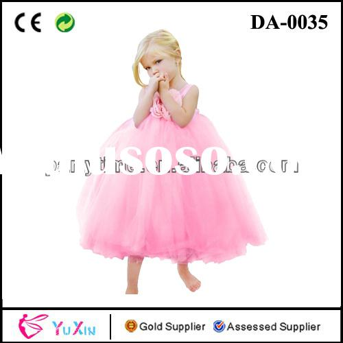 Fashion Flower Childs Tulle Tutu Dress Light Pink Tutu Dress Fluffy Tutu Dress For Wedding And Littl