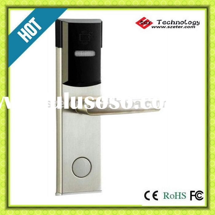 Hotel keyless entry door electric RF card hotel door lock ET104RF