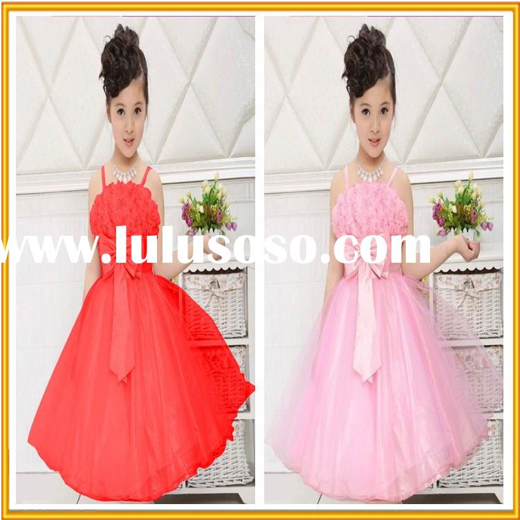 New Spring Desgin Korean Children Clothing Sleeveless Princess Girls Wedding Dress For Girl Of 7 Yea