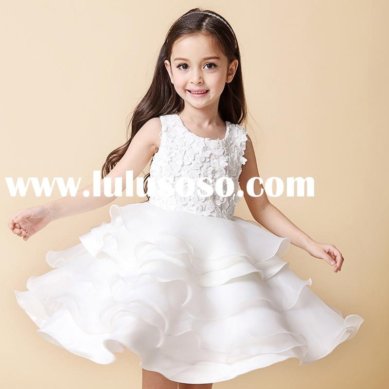 Q34 kids princess wedding party dresses for 19 years old children wedding dress girls boutiqute dres