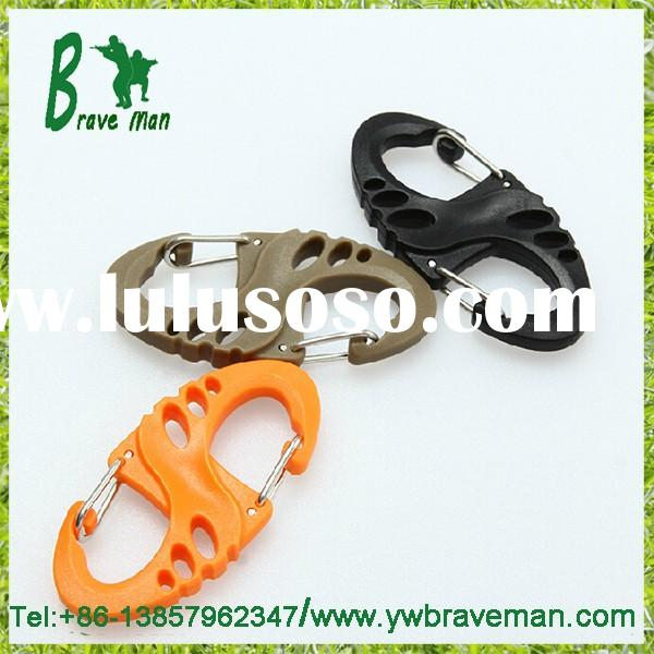S-biner Carabiner Plastic Clip Snap Hook for Camping or Backpack Gear/ Hang Buckle for Holding Keys
