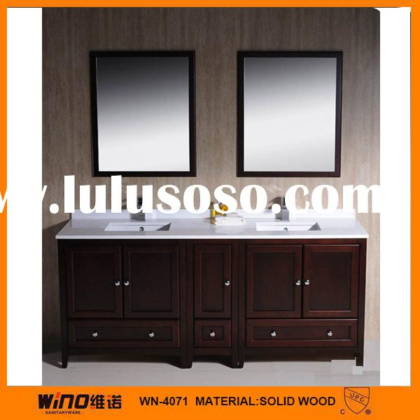 Solid wood modern free standing closeout 78 bathroom vanities