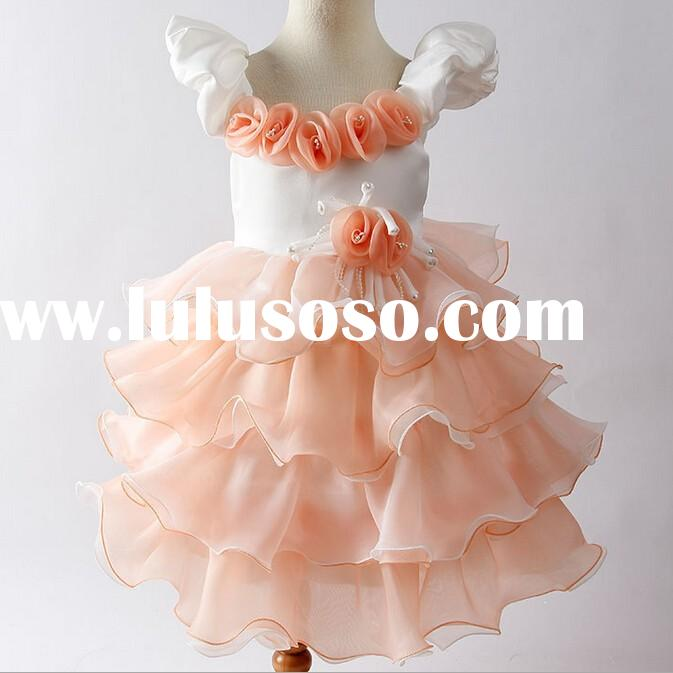 W91536A 2015 summer modern kids girls dresses children wedding dress girls dresses for weddings