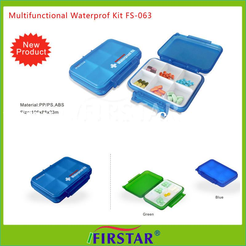 Waterproof EVA zipper carrying travel medicine containers decorative pill boxes