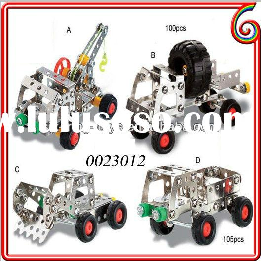 Wire control metal construction toy