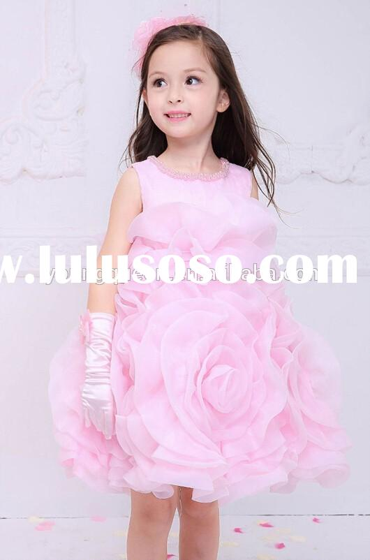 XD26 children dress princess dress baby girl flower dress for wedding