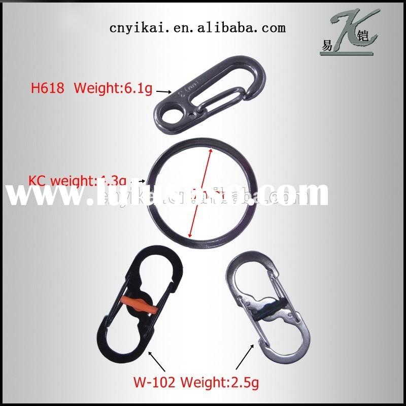 Yikai wholesale quick lock s biner clip for key chain plated carabiner hook