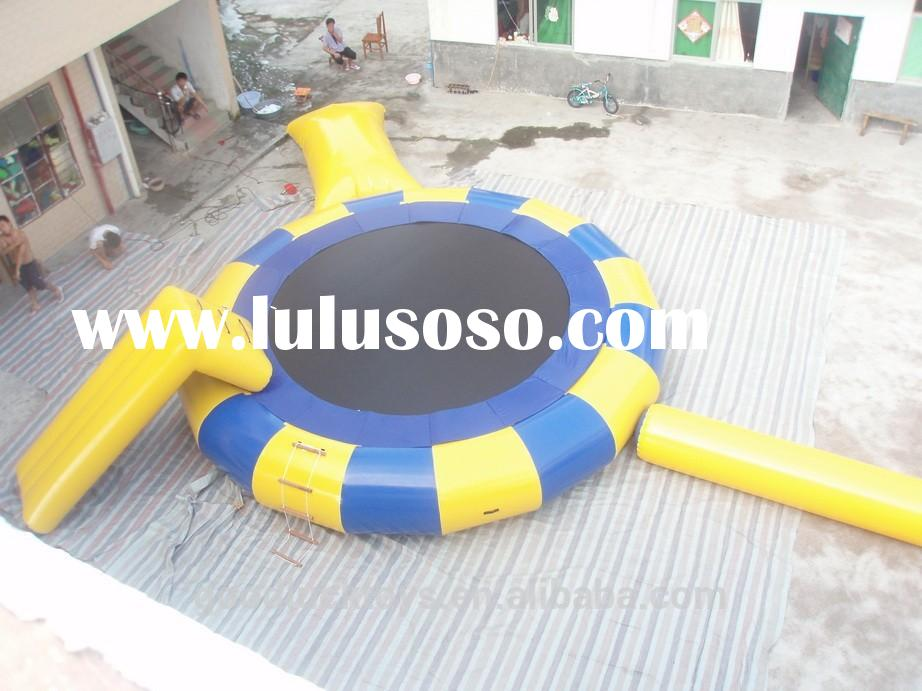 big discount for inflatable water trampoline/ inflatable floating water park inflatable trampoline