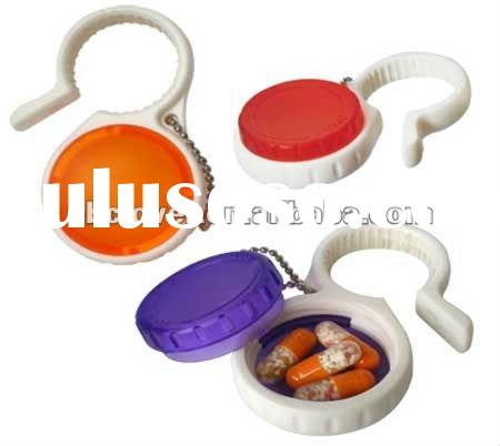decorative pill boxes with carabiner