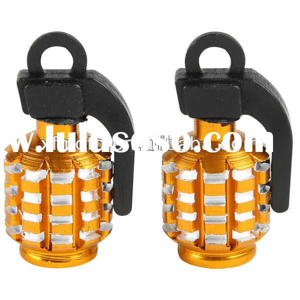 2PCS/a set Grenade Car&Motorcycle Tire Tyre Air Valve Cap universal gold cool