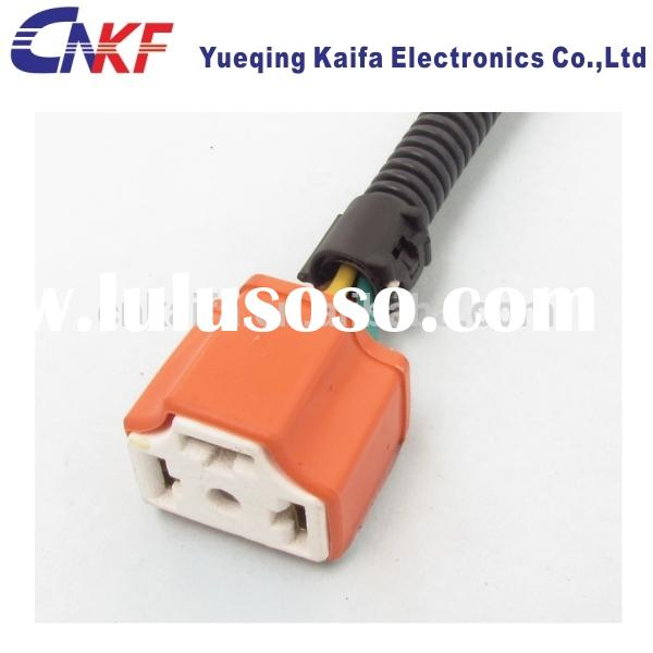Ceramic H4 3 Ways Automotive Connector of HID Wire Harness