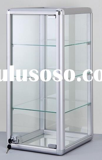 Elegant Countertop glass Display Case,jewelry display case on hot selling