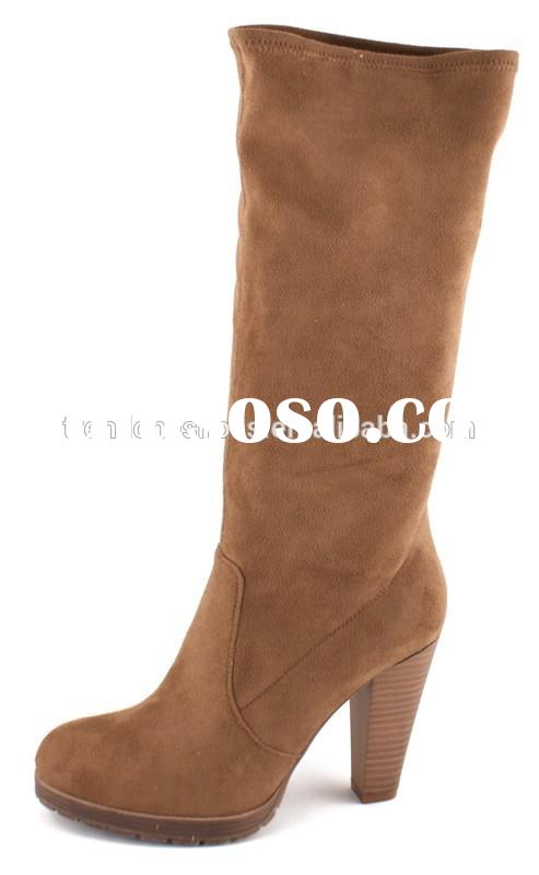 Fashion women leather knee high boots autumn and winter boots high boots