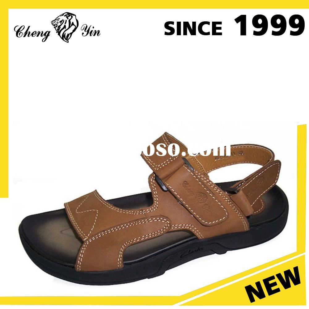 Hot Products 2015 Daily Life Use Italian Mens Leather Sandals