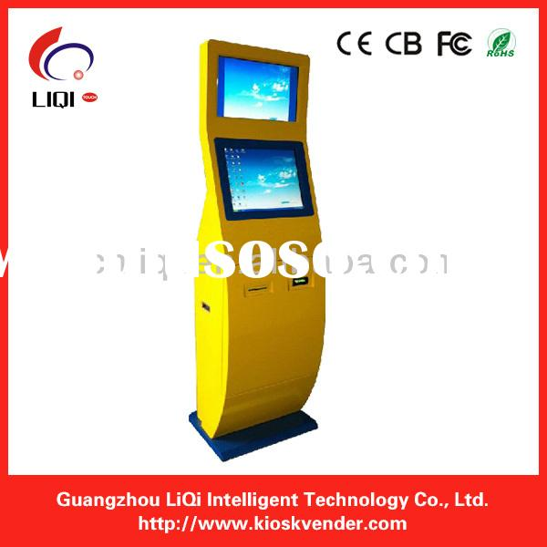 Public Dual Screen Cell Phone Charging Station kiosk, public mobile phone charging kiosk