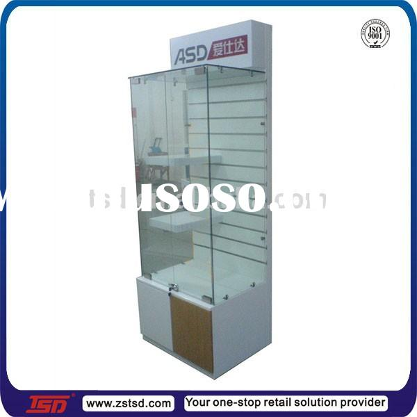 TSD-W935 Custom made retail store mdf slatwall display stand/exhibition display cabinet/slatwall dis