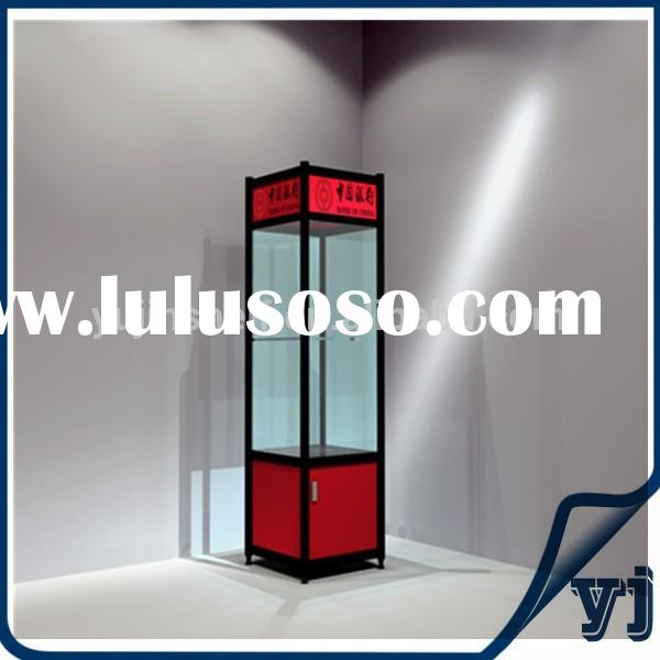 Titanium Alloy Showcase/glass display Cabinet/metal display case