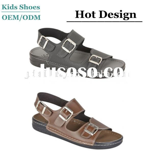 boys two buckle sling back beach shower sandals italian mens leather sandals