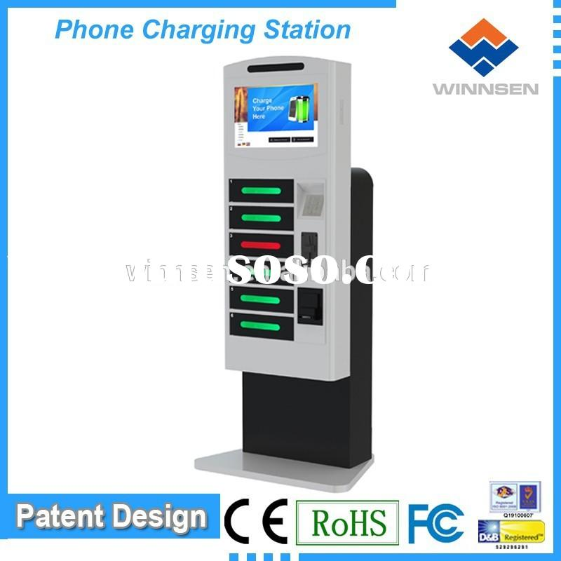 coin operated phone charging station/cell phone charging box/multiple cell phone charging station AP