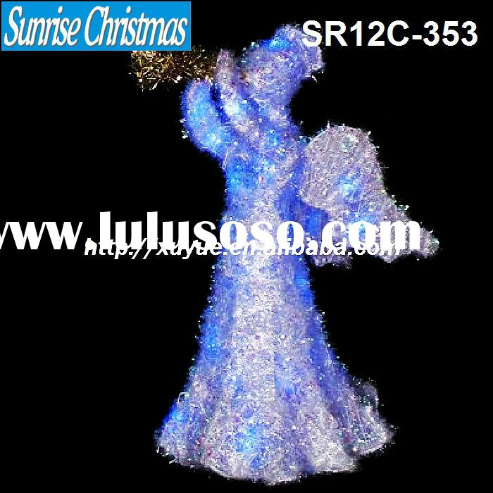 Battery operated Christmas angel with blue LED light