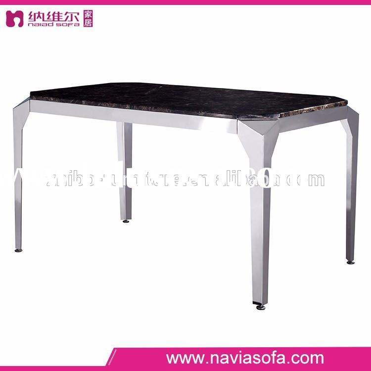 Dining room modern Simple design rectangle marble top dining table sets