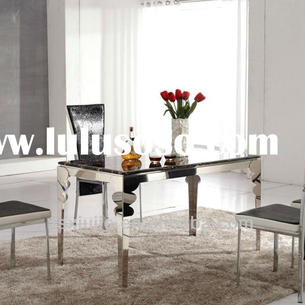 L859 Rectangular Marble Top Dining Table Sets/Modern Dining Room Table