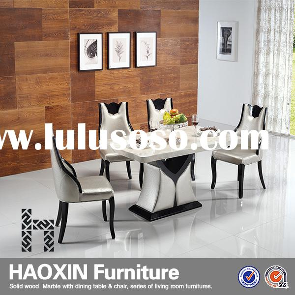 Modern Office PU Leather Metal Dining Room table&Chair,For World People